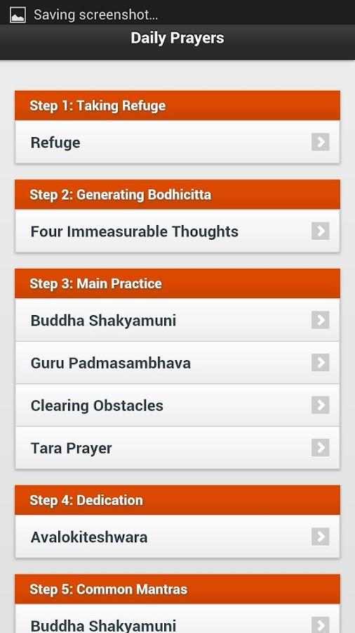 Daily Buddhist Prayers- screenshot