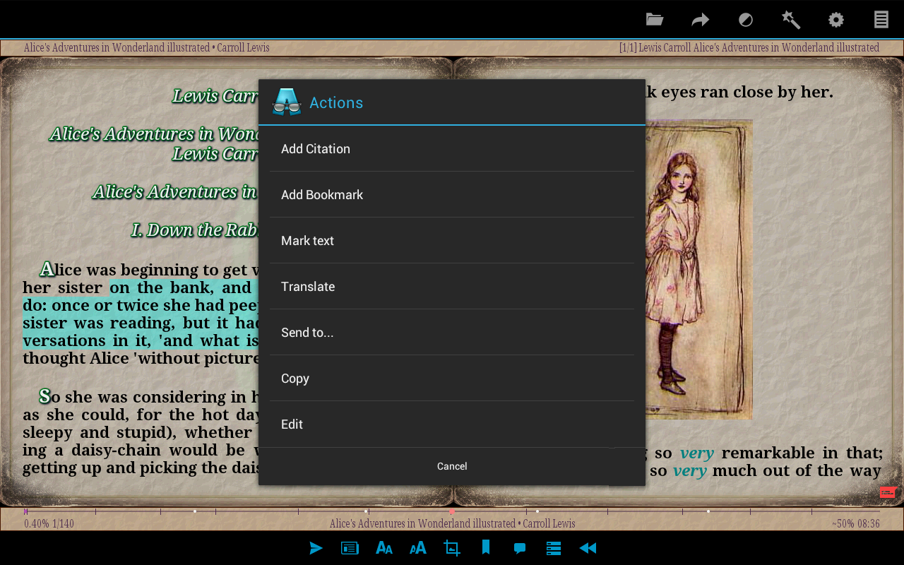 AlReader -any text book reader- screenshot