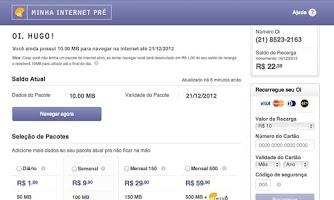 Screenshot of Oi Internet Pré
