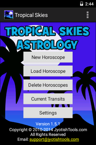 Tropical Skies Astrology- screenshot