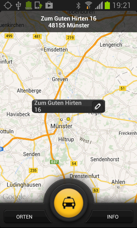 Taxiruf Münster- screenshot