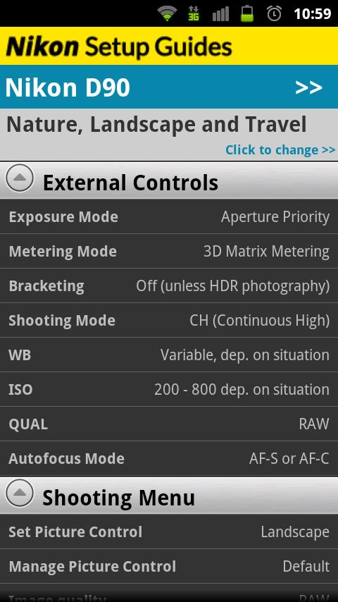 Nikon Setup Guides- screenshot