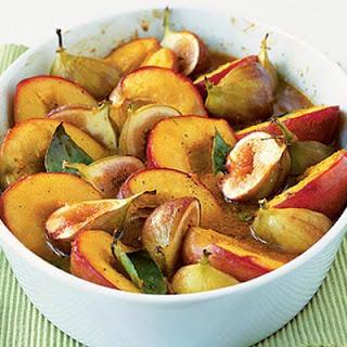 Spice Roasted Fruits With Honey & Orange Sauce.