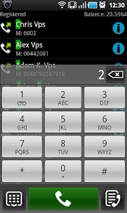 VoIP Video SIP softphone - screenshot thumbnail
