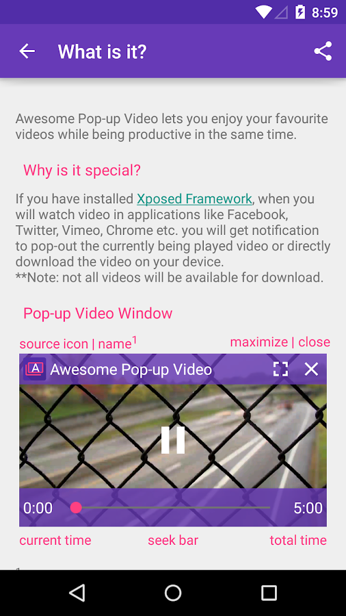 Awesome Pop-up Video- screenshot