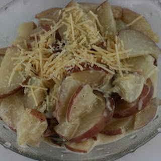 CrockPot Horseradish Scalloped Potatoes.