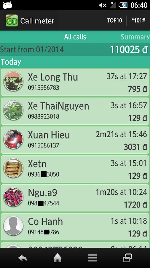 Cước điện thoại viettel - screenshot