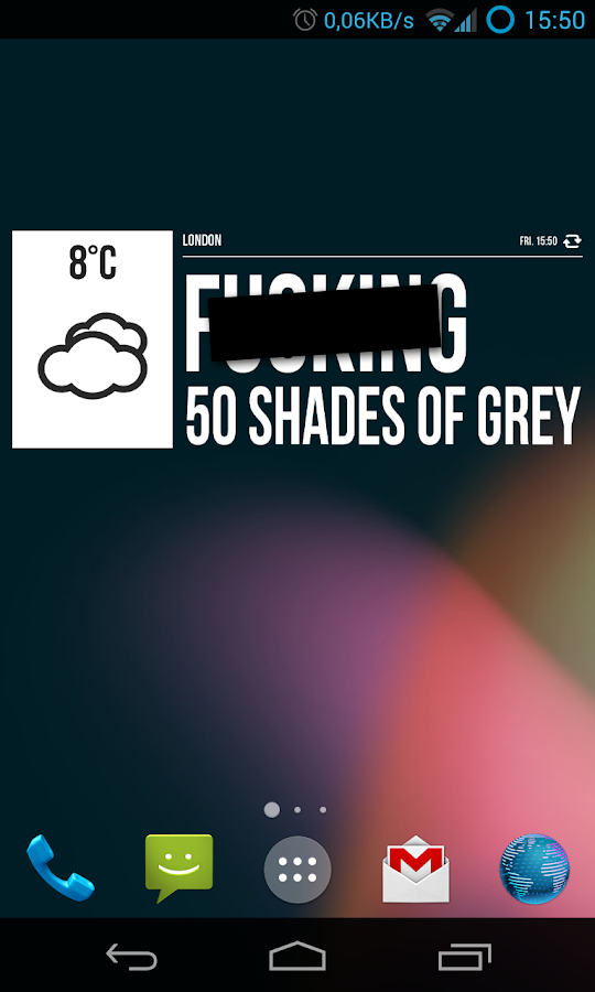Grumpy Weather Widget- screenshot