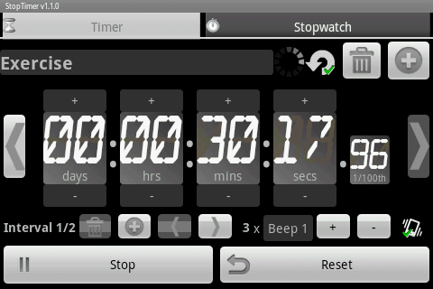 StopTimer - Stopwatch & Timer - screenshot