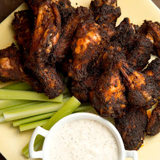 Mario Batali's Chicken Wings with White BBQ Sauce.