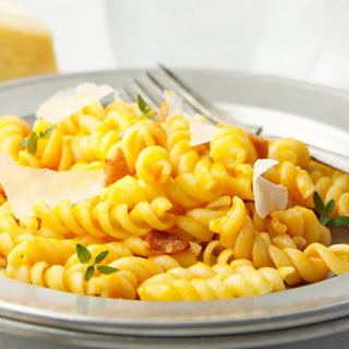 Creamy Carrot and Parm Pasta.