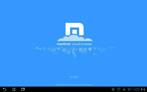 Maxthon Browser for Tablet- screenshot thumbnail