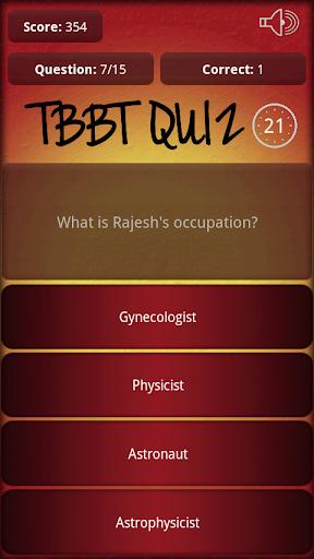 TBBT Quiz