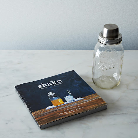Mason Jar Shaker & Signed Shake Book Set
