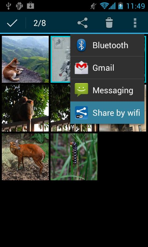 Share by wifi - screenshot