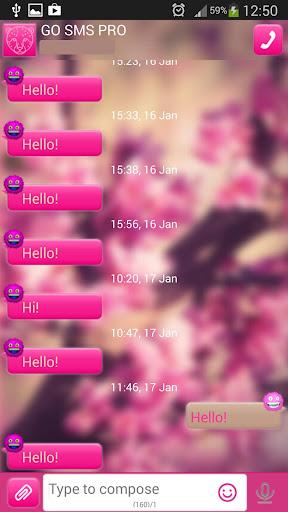 GO短信加强版粉红趣