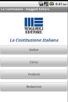 Screenshot of La Costituzione Italiana