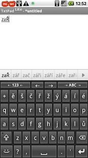 Czech for AnySoftKeyboard- screenshot thumbnail