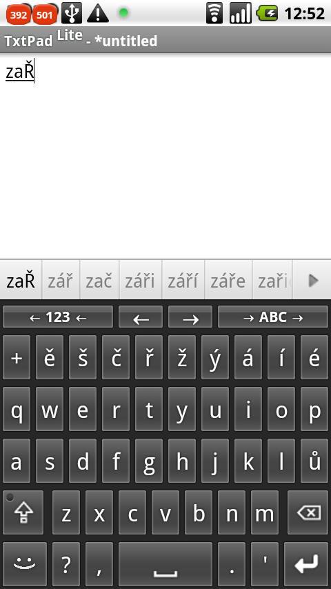 Czech for AnySoftKeyboard- screenshot