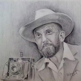 Ansel Adams by Alfonso Rahardja - Drawing All Drawing