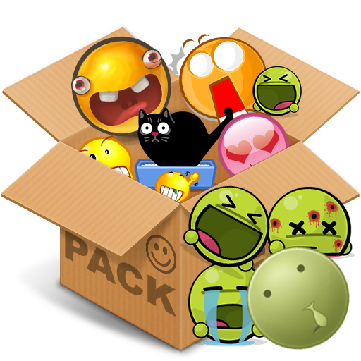 Emoticons pack, Green