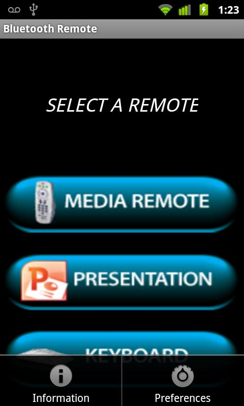 Bluetooth Remote - screenshot