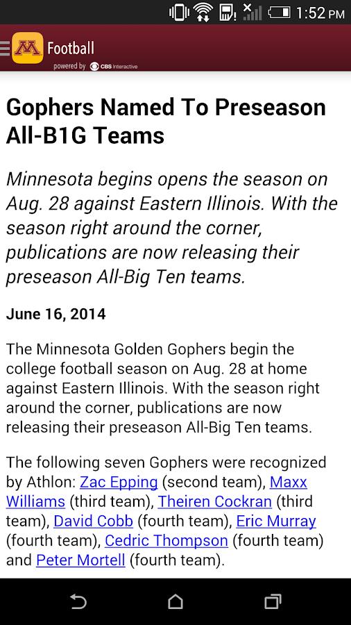 Minnesota Gophers Gameday LIVE - screenshot