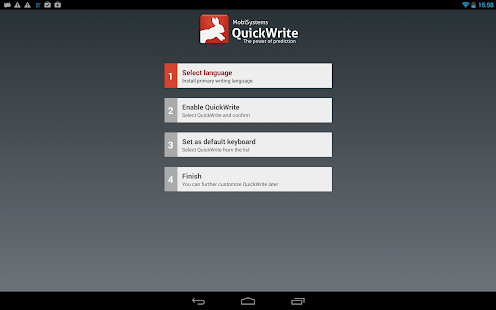 OfficeSuite QuickWrite - screenshot thumbnail