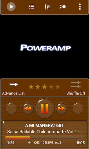 Poweramp Skin Brown Minimal