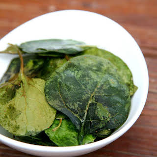 Oven-Baked Spinach Chips.
