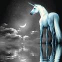 Unicorn Water and Moon Live Wa icon
