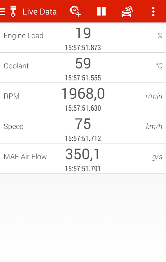 Piston (OBD2 & ELM327)- screenshot