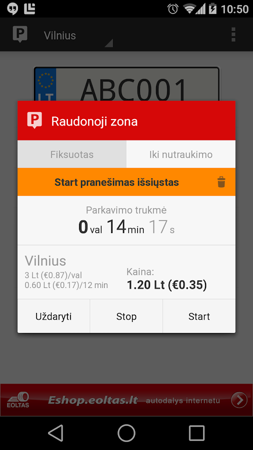 Parking in Lithuania - screenshot