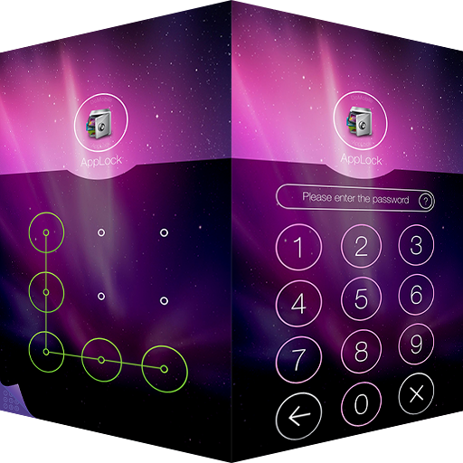 AppLock Theme Aurora 遊戲 App LOGO-硬是要APP