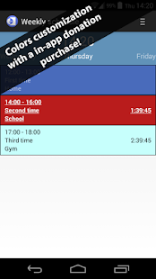 Weekly schedule- screenshot thumbnail