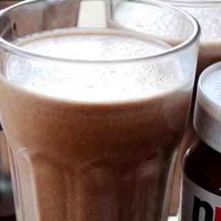 Nutella Milkshake with Banana and Coffee Recipe