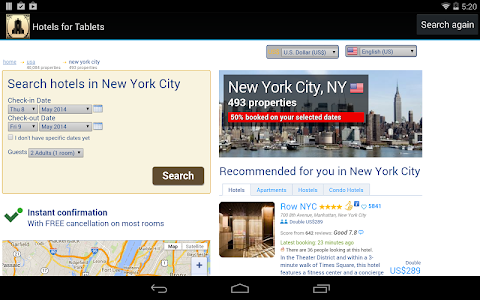 Hotels for Tablets screenshot 0