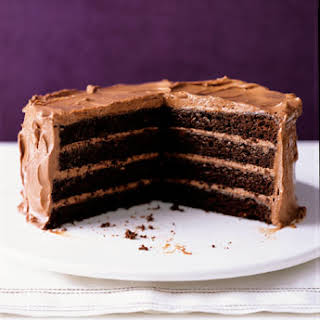 Chocolate Layer Cake with Milk Chocolate Frosting.