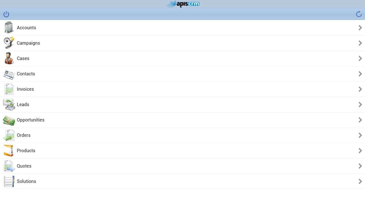 Apis CRM- screenshot
