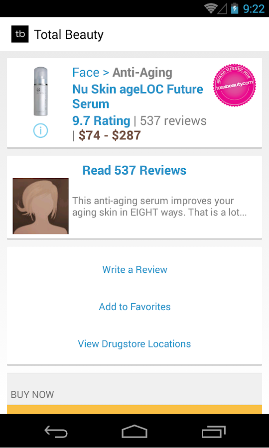 Beauty Product Reviews - screenshot
