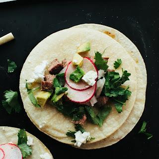 Flank Steak Tacos.