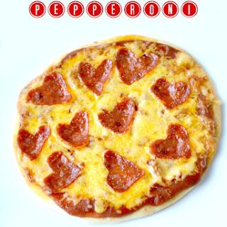 Heart-Shaped Pepperoni Flatbread Pizza