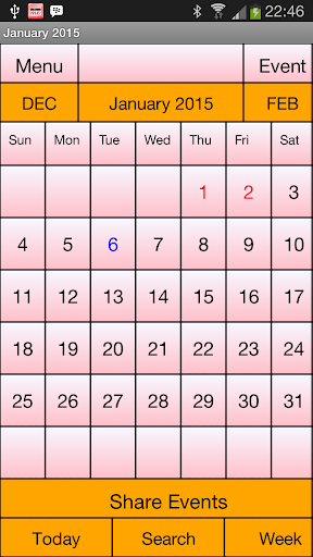Calendar Me Canada 2015