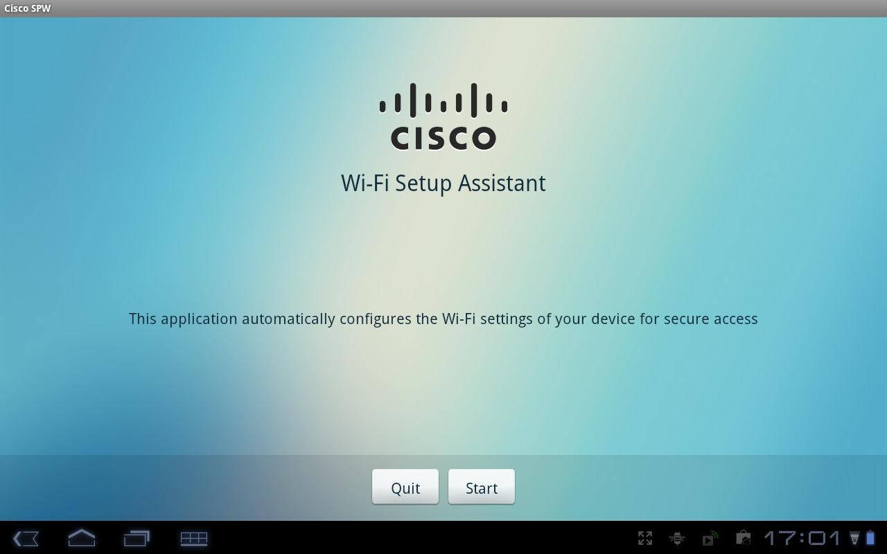 Cisco Network Setup Assistant - screenshot