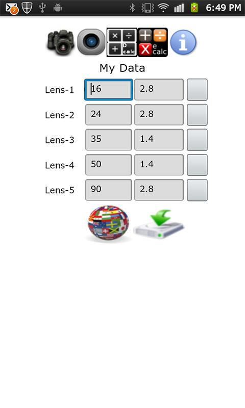 DOF Calculator Plus- screenshot