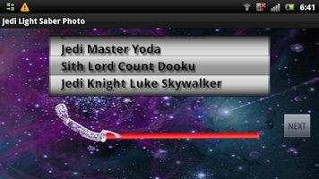 Screenshot of Jedi Light Saber Photo