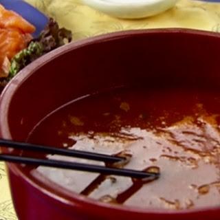 Savoury Tomato Shabu Shabu with Seafood Dippers Recipe