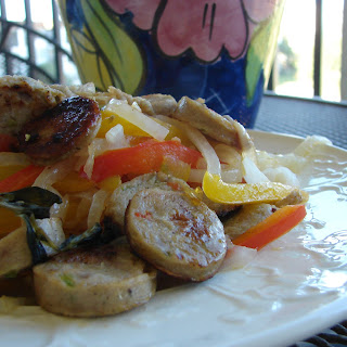 Healthy Sausage & Peppers.