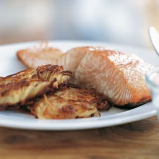 Smoked Salmon with Potato Pancakes