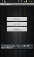 Screenshot of Motion Detector